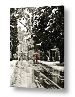 צילומים תמונות של אנשים | הליכה בשלג