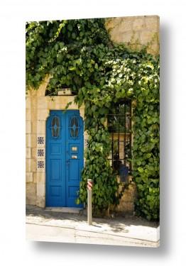 תמונות לפי נושאים השתקפות   דלת ברחוב שמשון