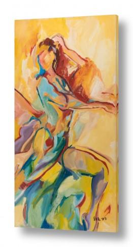 ציורים ציפי אהל   אישה דיפטיכון