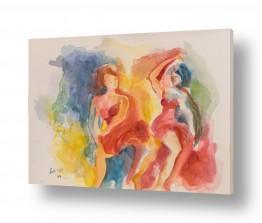 ציורים ציפי אהל   שתי נשים