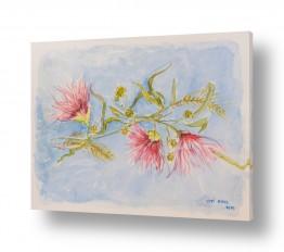 ציורים טבע דומם | ענף פורח