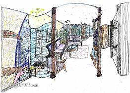 כניסה וסלון (בדירה קטנ