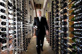 חדר יין במסעדת שף